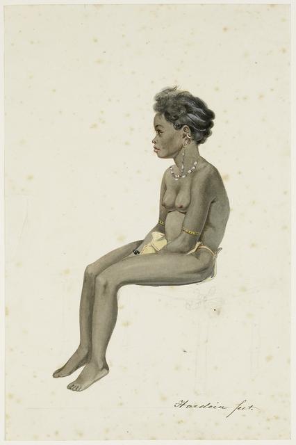 Portret van een dochter van de Orang Kaya (dorpshoofd) van Af(f)ara op het eiland Workai, Aru eilanden, Zuidoost-Molukken