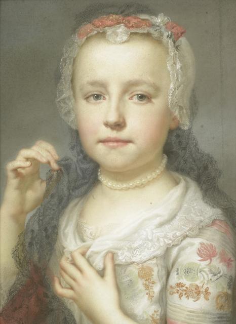 Portret van een jong meisje, waarschijnlijk Julie Carlotta Mengs, zuster van de kunstenaar