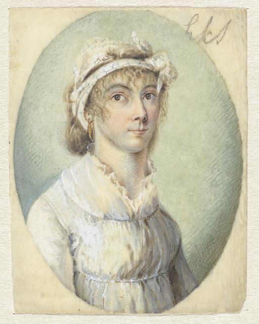 Portret van een jonge vrouw, driekwart naar rechts