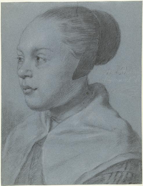 Portret van een jonge vrouw met een kapje