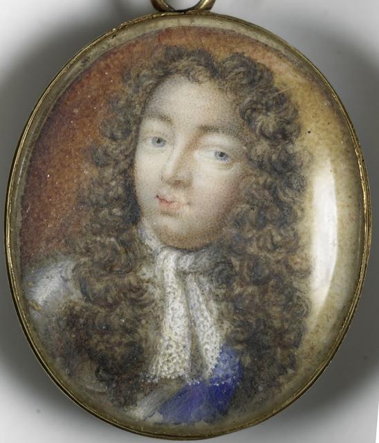 Portret van een man en een vrouw (keerzijde) vermoedelijk Willem Frederik Markgraaf van Brandenburg-Anspach (1686-1723) en zijn vrouw Christiane Charlotte van Württemberg (1694-1723)