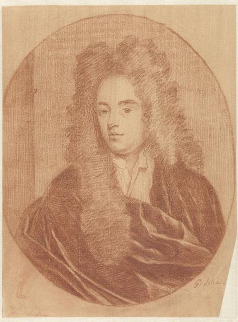 Portret van een man, in ovaal