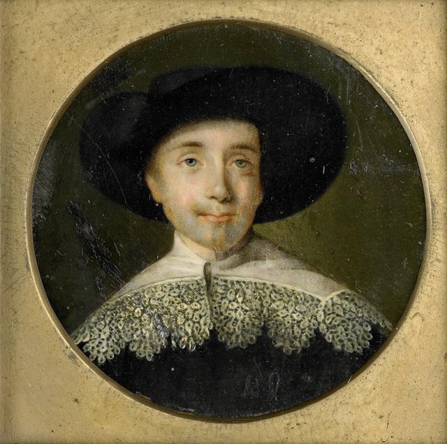Portret van een man in zeventiende-eeuwse kleding