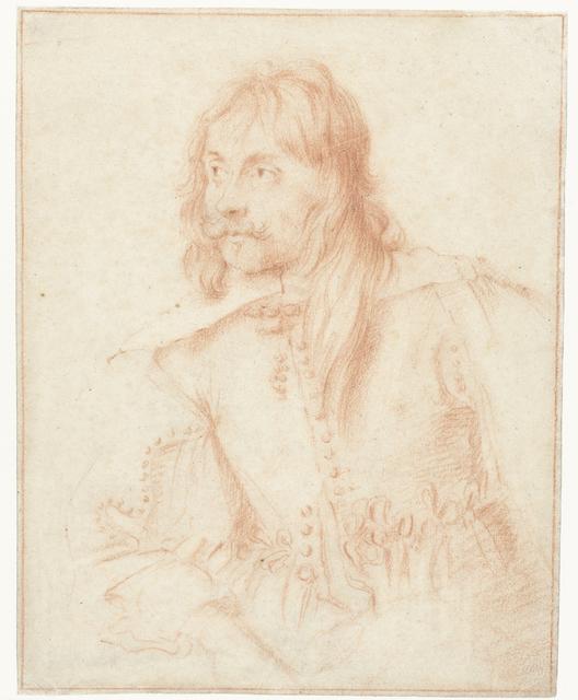 Portret van een man, ten halven lijve, naar links