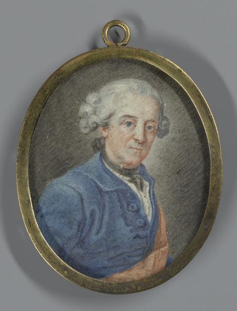 Portret van een man, vermoedelijk Frederik II (1712-86) de Grote, koning van Pruisen