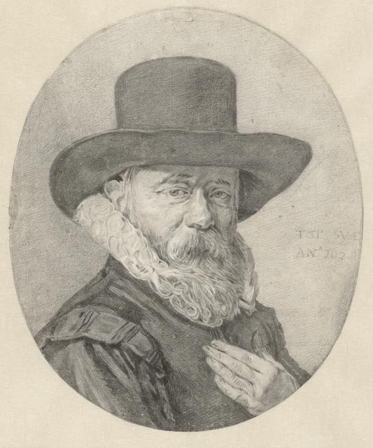 Portret van een man, wellicht Theodorus Schrevelius