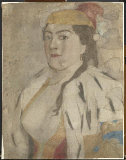 Portret van een onbekende vrouw uit Istanbul