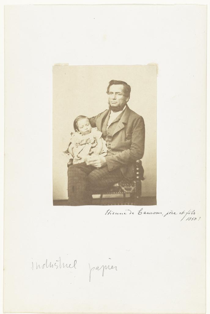 Portret van Etienne de Canson met een kind
