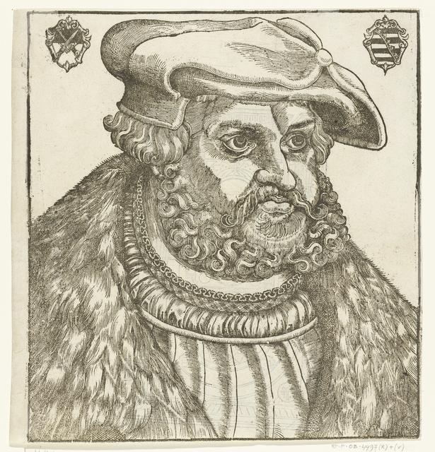 Portret van Frederik III (Frederik de Wijze) keurvorst van Saksen