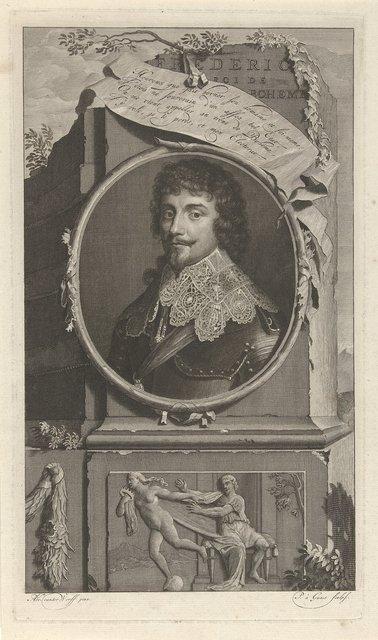Portret van Frederik V, keurvorst van de Palts, koning van Bohemen