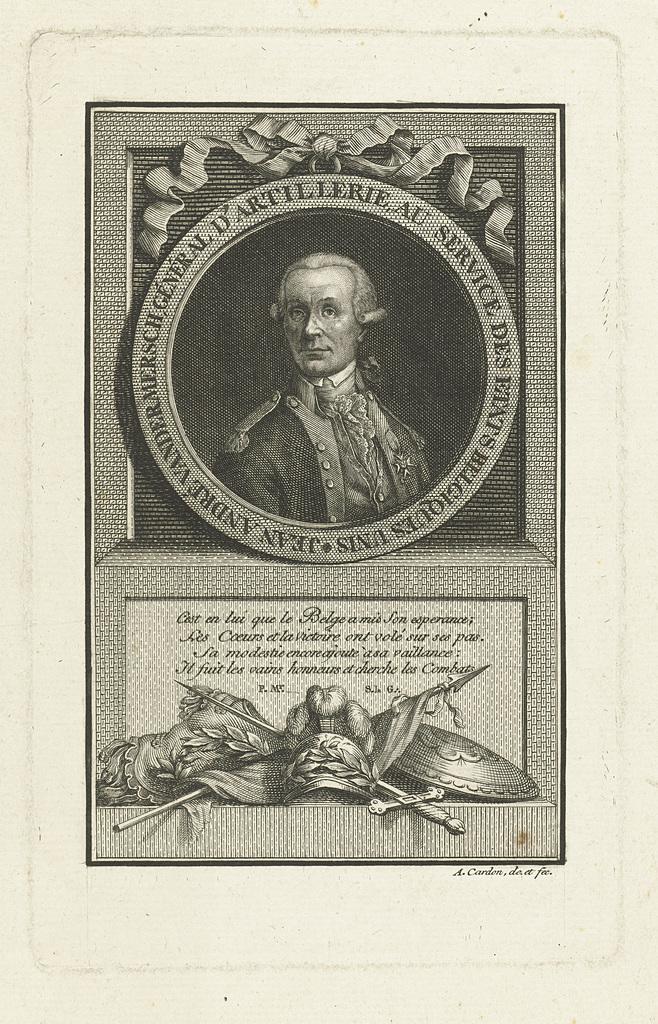Portret van generaal Jean André van der Mersch