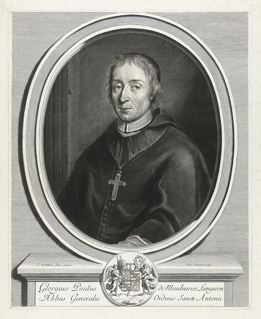 Portret van Georgius Paulus de Mauleurier Langeron