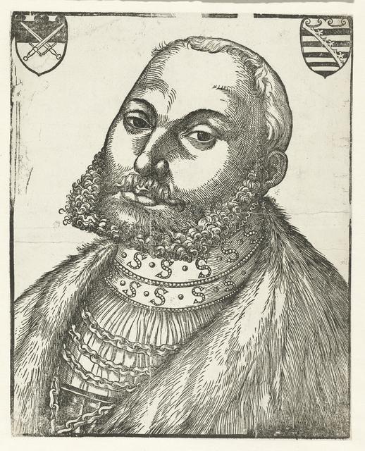 Portret van Johan Frederik I (Johan Frederik de Grootmoedige) hertog van Saksen