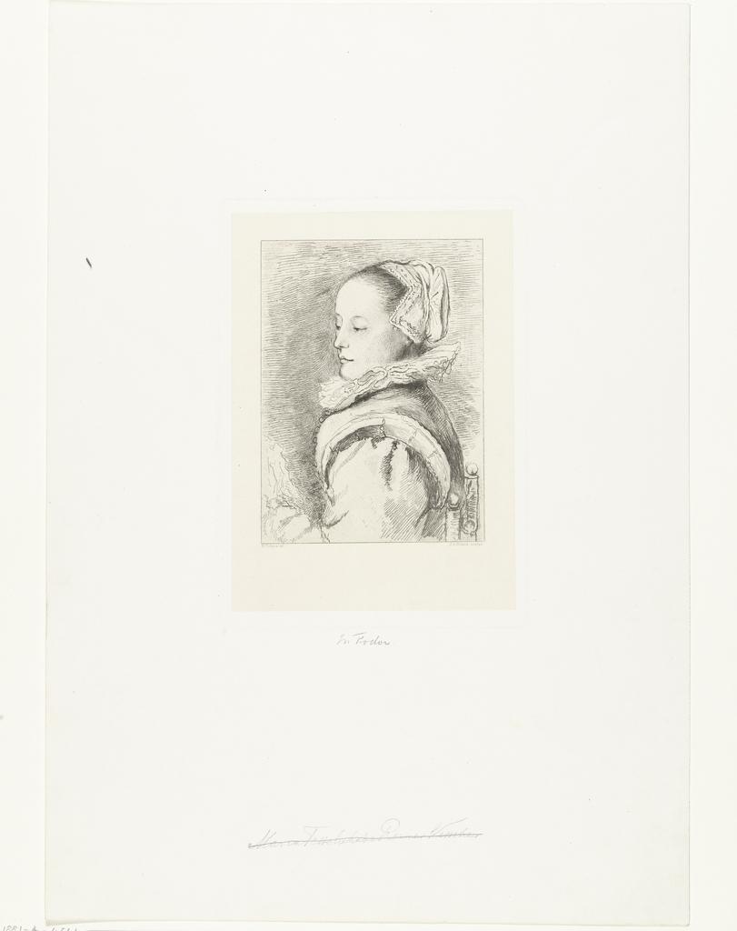 Portret van Maria Tesselschade Roemer Visscher