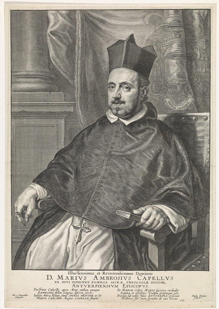Portret van Marius Ambrosius Capello, bisschop van Antwerpen