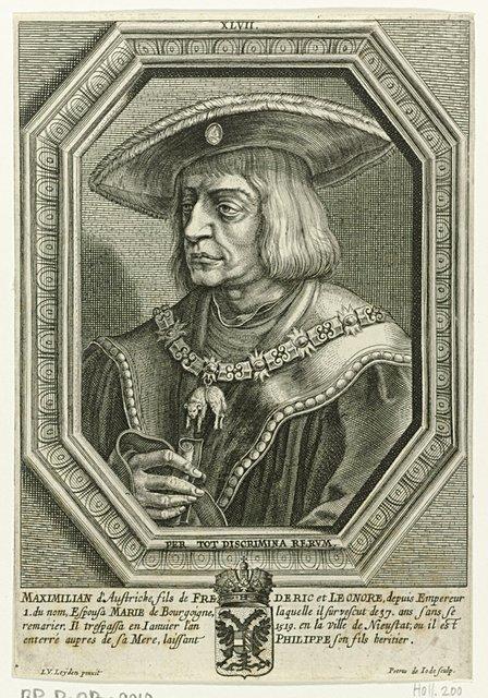 Portret van Maximiliaan I van Oostenrijk