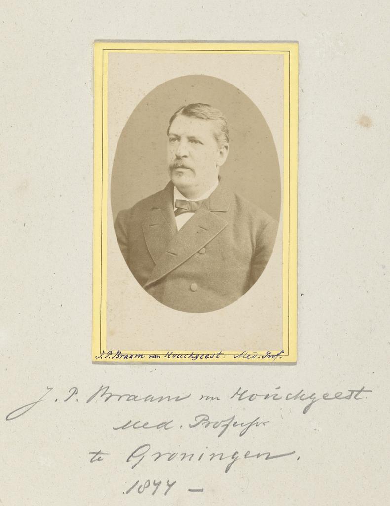 Portret van medisch professor J.P. Braam van Houckgeest