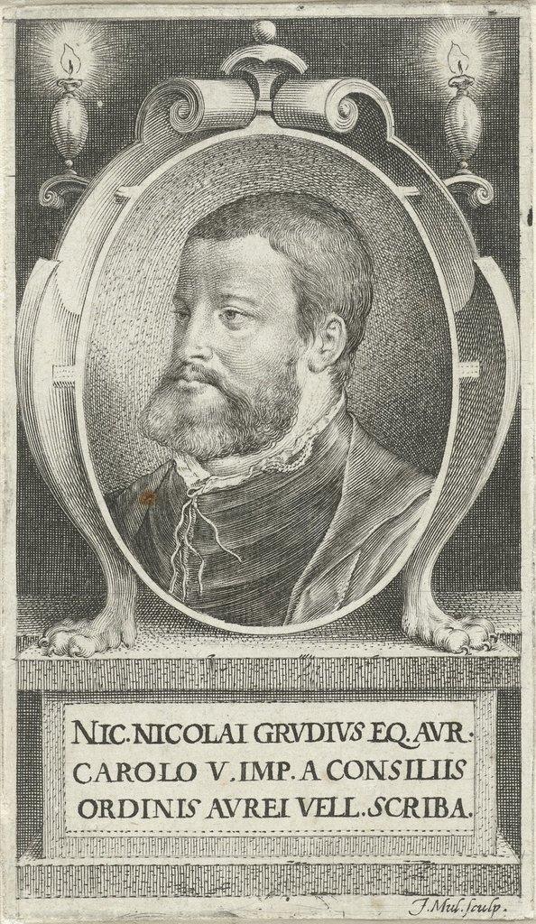 Portret van Nicolaas Grudius