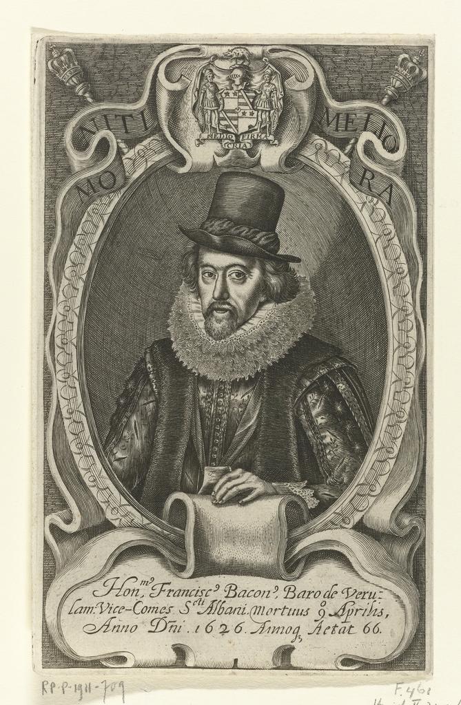 Portret van wetenschapper Francis Bacon