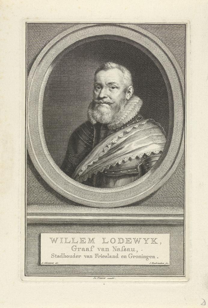 Portret van Willem Lodewijk, graaf van Nassau