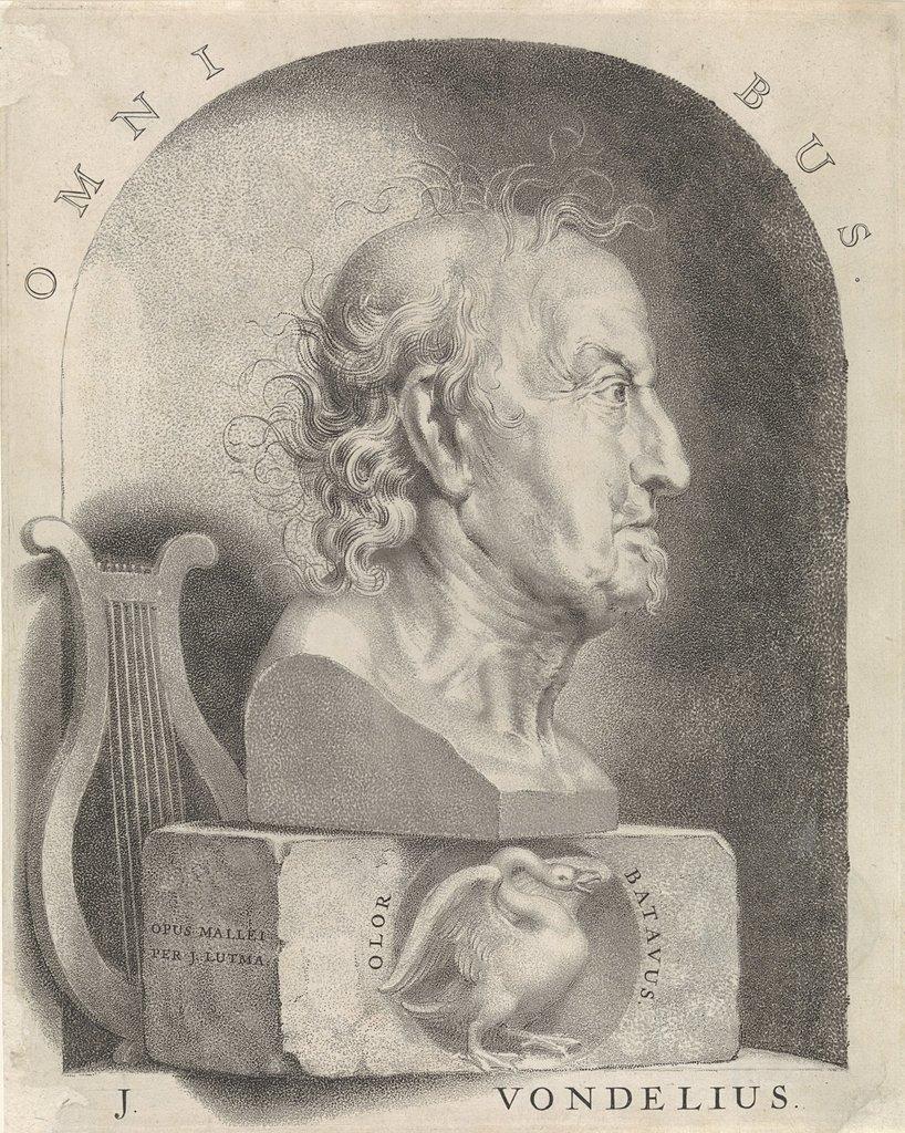 Portretbuste Van Joost Van Den Vondel Picryl Public Domain
