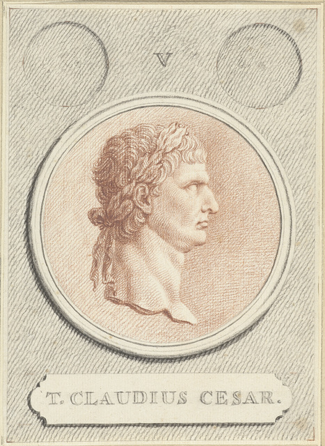 Portretmedaillon van Claudius I, Romeins keizer