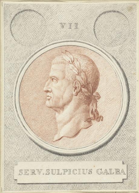Portretmedaillon van Galba, Romeins keizer