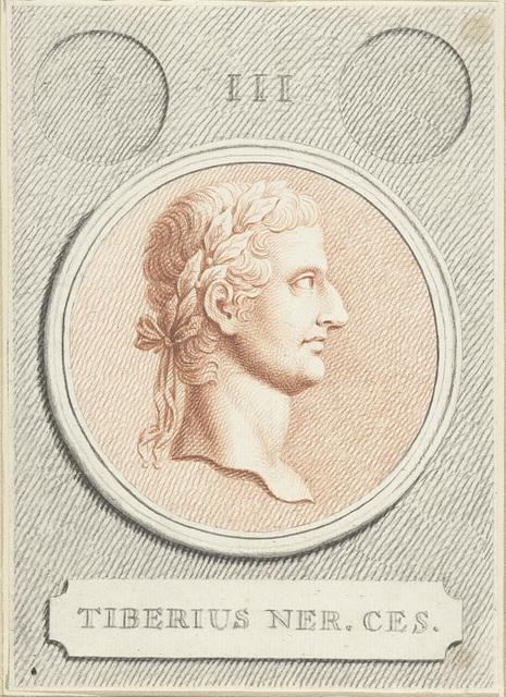 Portretmedaillon van Tiberius, Romeins keizer