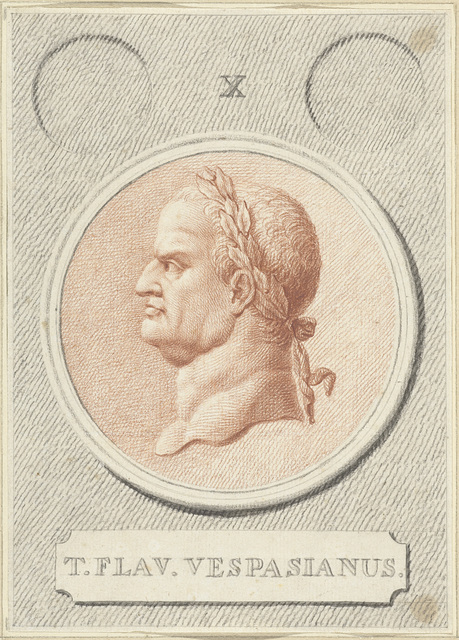 Portretmedaillon van Vespasianus, Romeins keizer