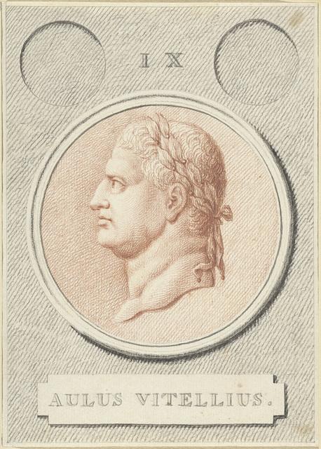 Portretmedaillon van Vitellius, Romeins keizer