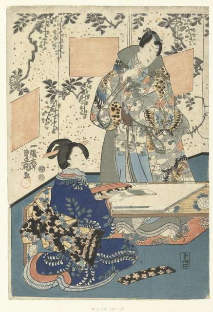 Prins Genji en hofdame