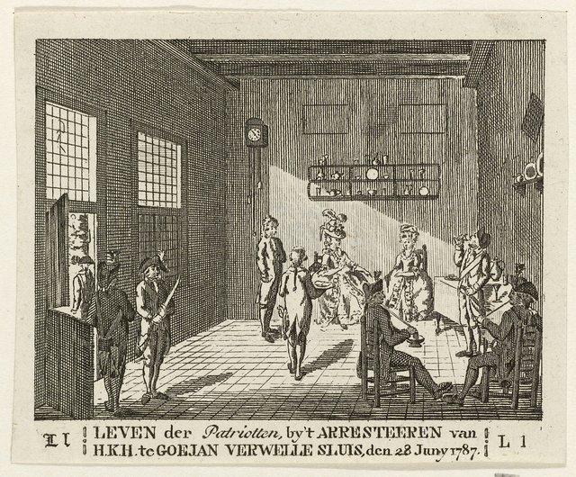 Prinses gevangen gehouden te Goejanverwellesluis, 1787