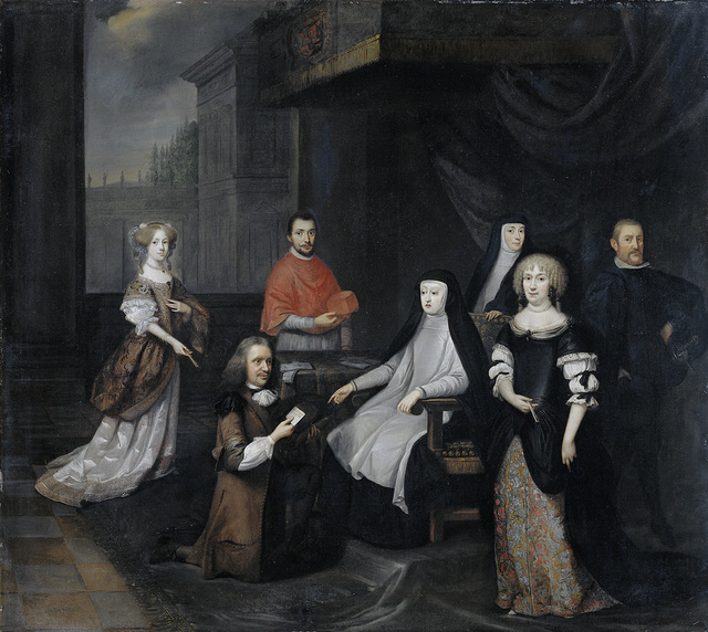 Reception of the Dutch ambassador Hieronymus van Beverningk by the Spanish queen-regent Maria-Anna of Austria, 2 March 1671