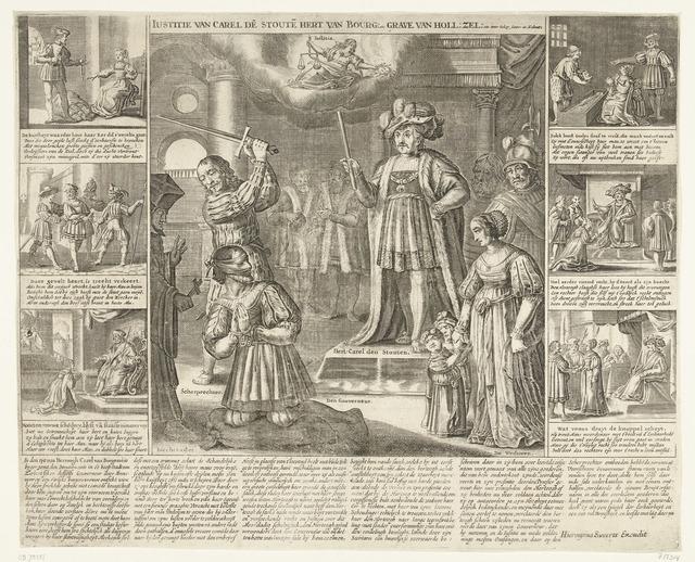Rechtspraak van Karel de Stoute over de gouverneur van Zeeland, ca. 1474