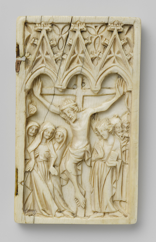 Right wing of a diptych with the Crucifixion