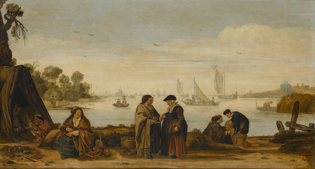 River Landscape with Gypsies