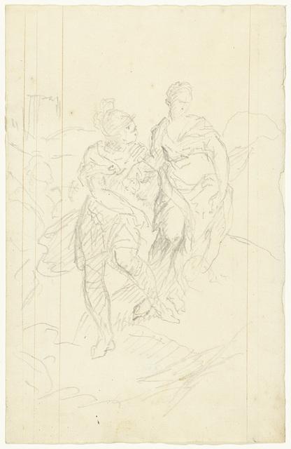 Romeinse krijger die een vrouw meevoert