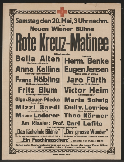 Rote Kreuz-Matinee - Neue Wiener Bühne