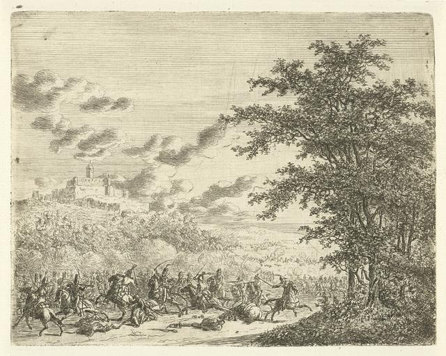 Ruitergevecht bij fort Königstein