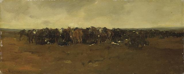 Rustende cavalerie.