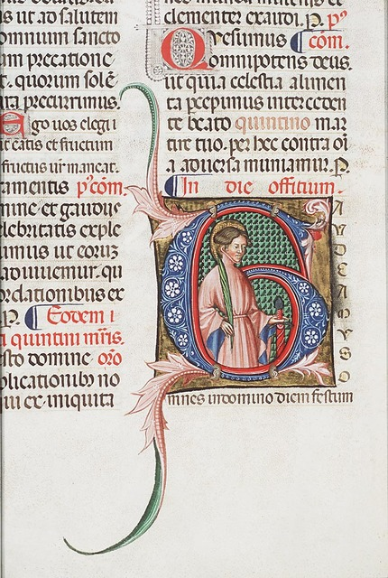 Saint martyr with a palm and sword