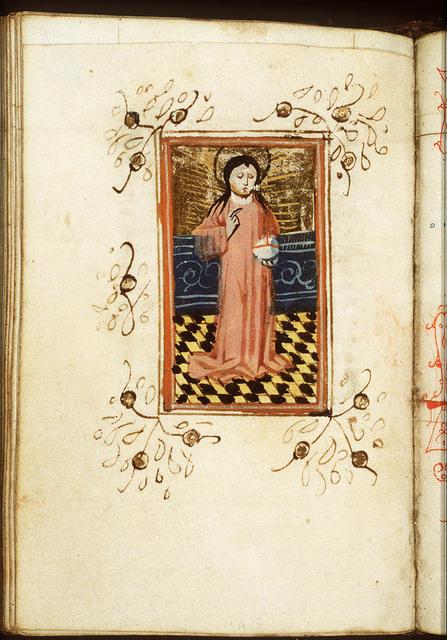 Salvator Mundi: Christ holding an orb