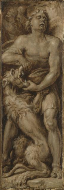 Samson Slays the Lion (Samson Rending the Lion)