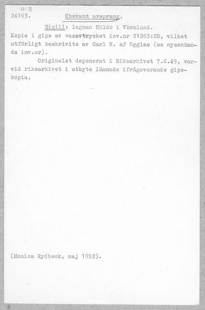 sigill (Sigill: lagman Höldo i Värmland)