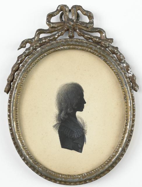 Silhouet portret van een jongen