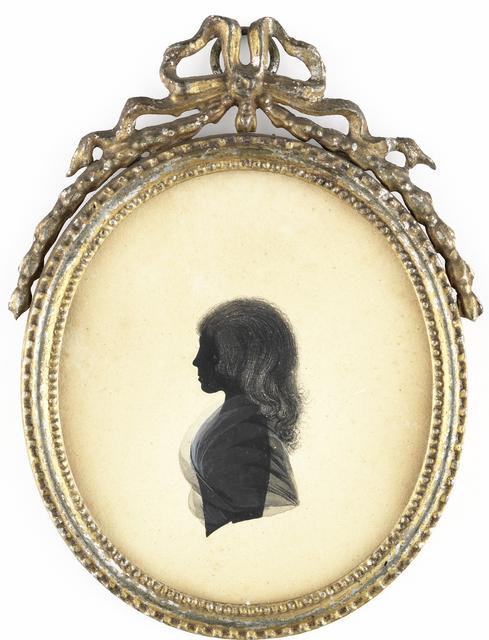 Silhouet portret van een meisje