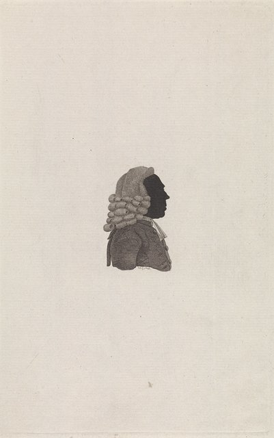 Silhouetportret van Allard Hulshoff