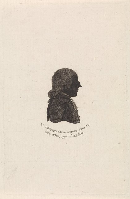 Silhouetportret van Willem van Oosterwijk Hulshoff