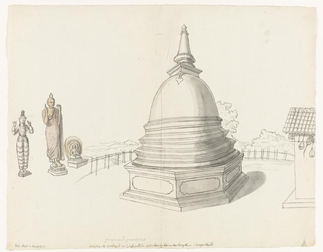 Singalese stupa te Moegerikalle