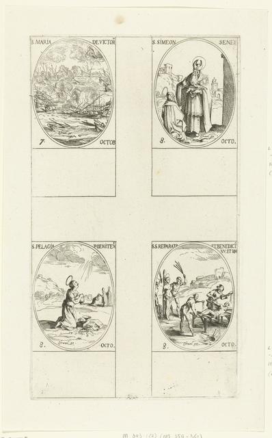 Slag bij Lepanto (Maria-Overwinning), Heilige Simeon Senex van Jeruzalem, Heilige Pelagia van Antiochië, Heilige Reparata van Caesarea en Heilige Benedicta van Laon (7-8 oktober)